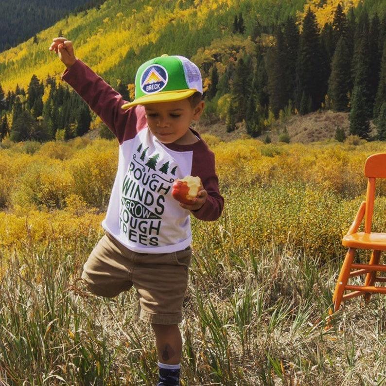 Rough Winds Grow Tough Trees Toddler Boy Tshirt Baseball image 0