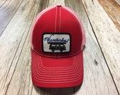 Women's Trucker Hat - Wanderlust Patch - Mesh Trucker