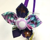 Flower Fabric Headband - Purple Headband with Purple Flower