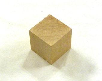 2 Inch - Unfinished Hardwood Cubes - 40 Blocks