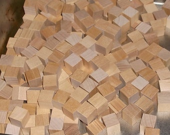 0.5 inch - Unfinished Maple Wood Cubes - 480 Blocks - Hand Sorted
