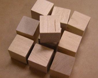 1.5 Inch - Unfinished Maple Wood Cubes - 100 Blocks
