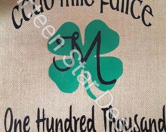 Cead Mile Failte Burlap Garden Flag, Irish Blessing, Welcome flag, burlap flag, irish welcome, burlap garden, garden flag, irish garden flag
