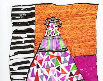 Thoughtfulness - Original Mixed Media Art