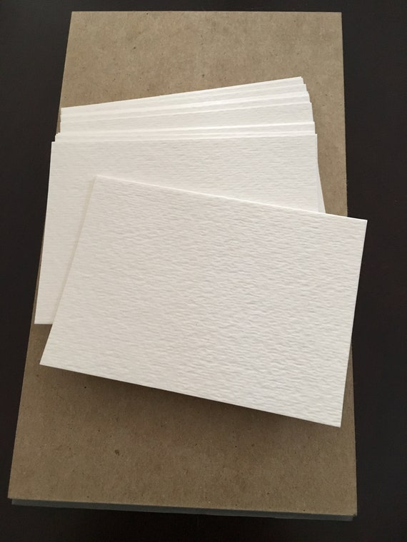100 Blank Atc Aceo Artist Trading Cards 2 5 X 3 5 140lb Watercolor Cold Press Cardstock