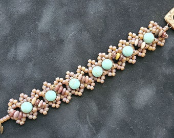 Right Angle Weave Bracelet  by Mary Harding