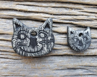 Pair of Kitties in Sgraffito by Mary Harding