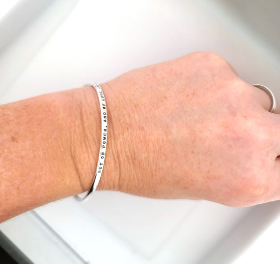 Personalised Sterling Silver Bangle Jewellery Messages Names and Dates Letters Custom Made Bracelet Silver Bangles Personalized Words