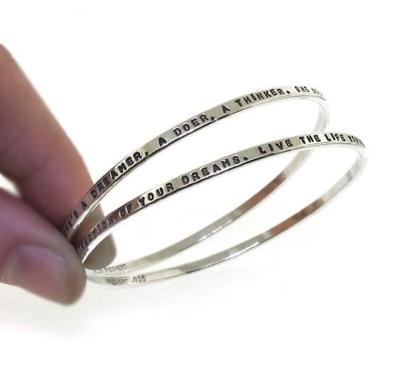 72ae35737b51 Bangle Bracelet personalized silver bangle bracelets for
