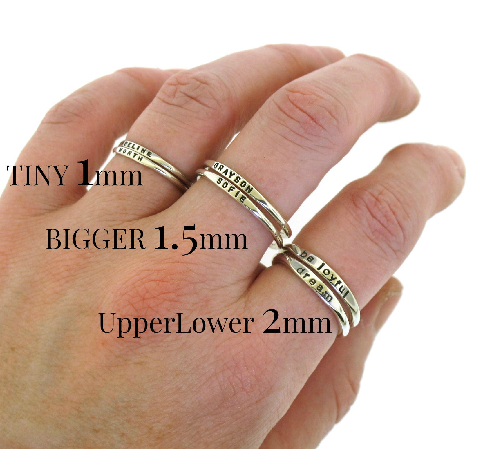 stacking ring custom made silver ring personalized w your. Black Bedroom Furniture Sets. Home Design Ideas