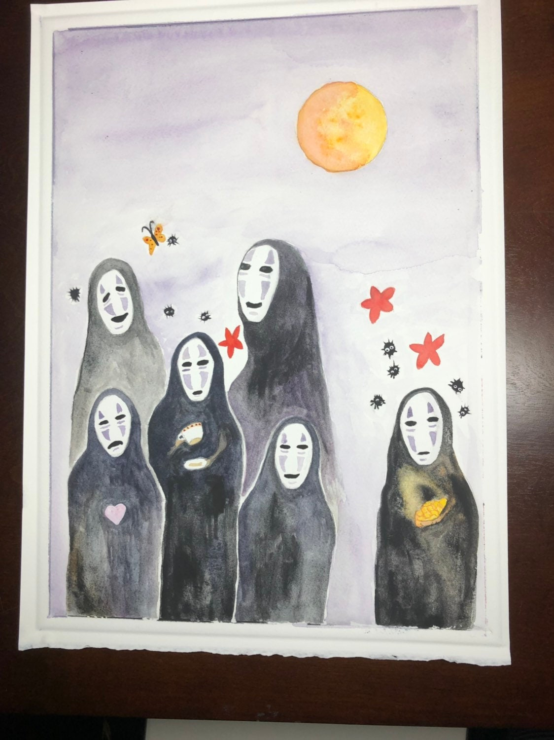 Spirited Away No Face Original Fine Art Painting By Andrea Etsy