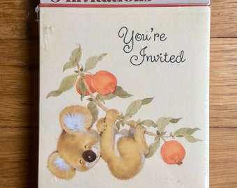 Vintage invitations Etsy