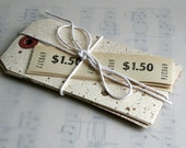 Walnut Ink Speckled and Distressed Paper Tags - 10 large Paper Tags