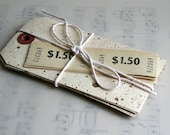 Walnut Ink Speckled and Distressed Paper Tags - 10 large Paper Tags assemblage kit, collage supplies