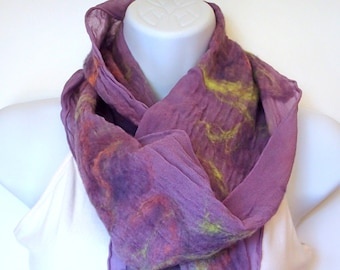 Nuno Felted Wool and Silk Scarf (Free Shipping)