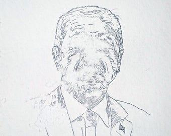 Recep Tayyip Erdoğan, original artwork by bees and Jan Karpíšek