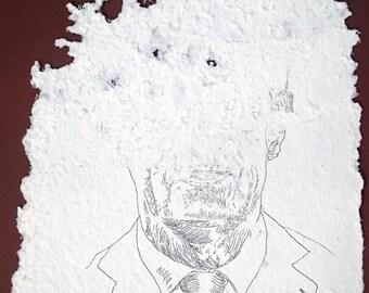 Andrej Babiš #2, original artwork by bees and Jan Karpíšek