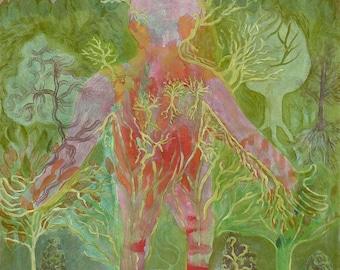 The Landscapebody - original painting by Jan Karpíšek