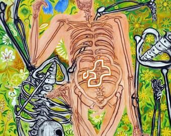 Carpe diem, oil and acryl on canvas, 95x75 cm, 2013 - original painting by Jan Karpíšek