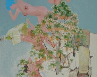 The Pine - original painting by Jan Karpíšek