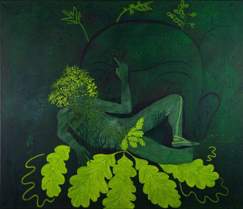 The Green Man  original painting by Jan Karpíšek image 0