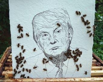 Donald Trump #1, original artwork by bees and Jan Karpíšek