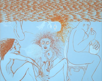 The Spiritual Painting with Time - original painting by Jan Karpíšek