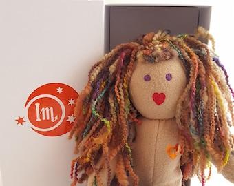 Make-A-(IndigoMuse) Friend Handmade Rainbow hair IndigoMuseFriend heirloom doll with pajamas