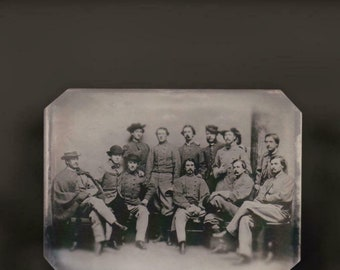 Sixth-Plate Civil War Champ Ferguson And His Men C2562rp