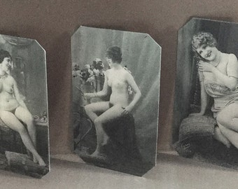 Lot of 3 Risque Nudes Tintypes 406-408NP