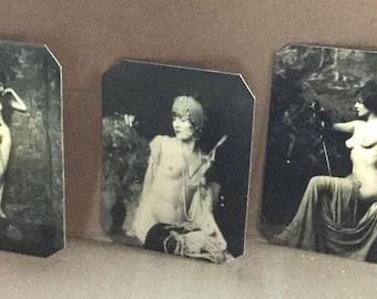 Lot of 3 Ziegfeld Alfred Cheney Johnson Risque Tintypes 415-417NP