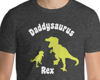 Daddysaurus T Shirt New Fathers Day Kids Gift To Daddy Pregnancy Announcement Shirt Baby Shower Grandparents Gift to New Parents