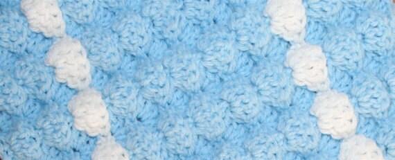 Crochet Baby Blanket Pattern Tutorial 3 D Puffy Shell Fan Etsy