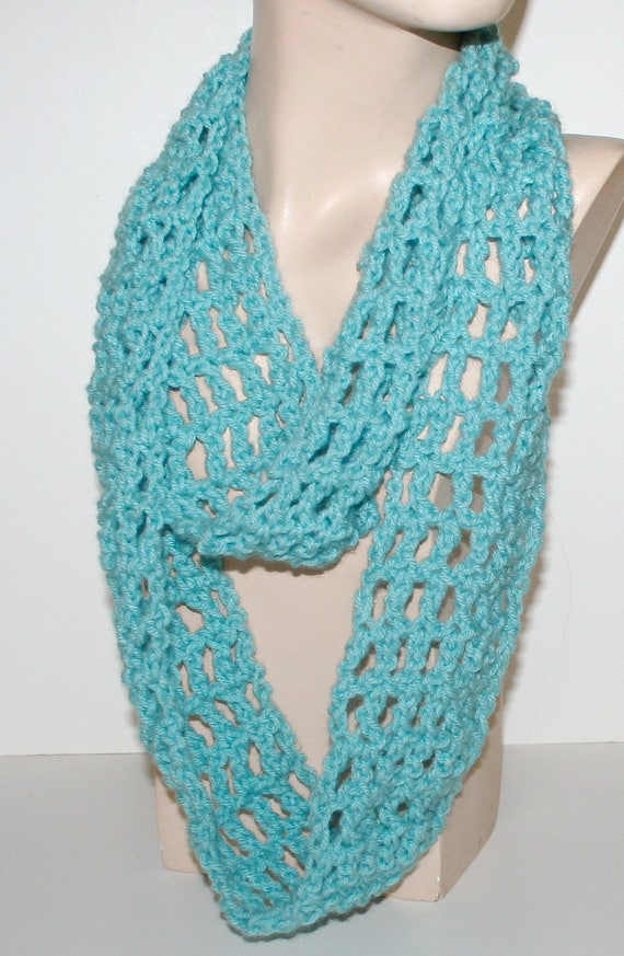 Crochet Scarf Pattern Easy Tutorial Light Airy Infinity Long