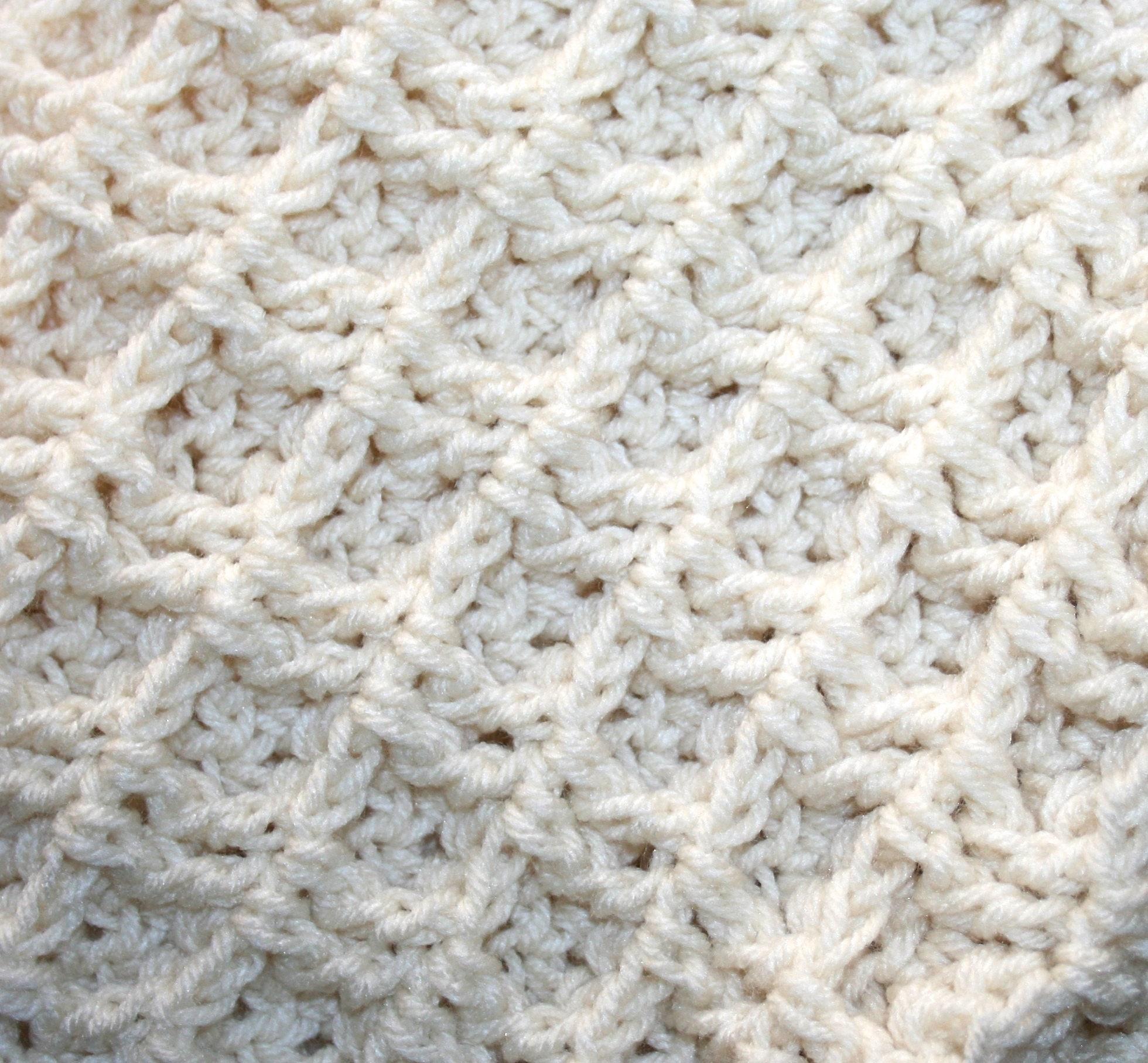 3 D Waffle Crochet Blanket Pattern Thick Cushy Chunky Adult   Etsy
