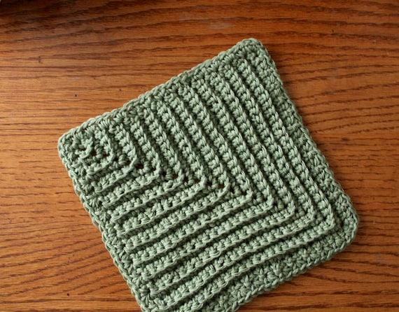 Crochet Dishcloth Pattern Textured Easy Beginner Pattern Uk Etsy