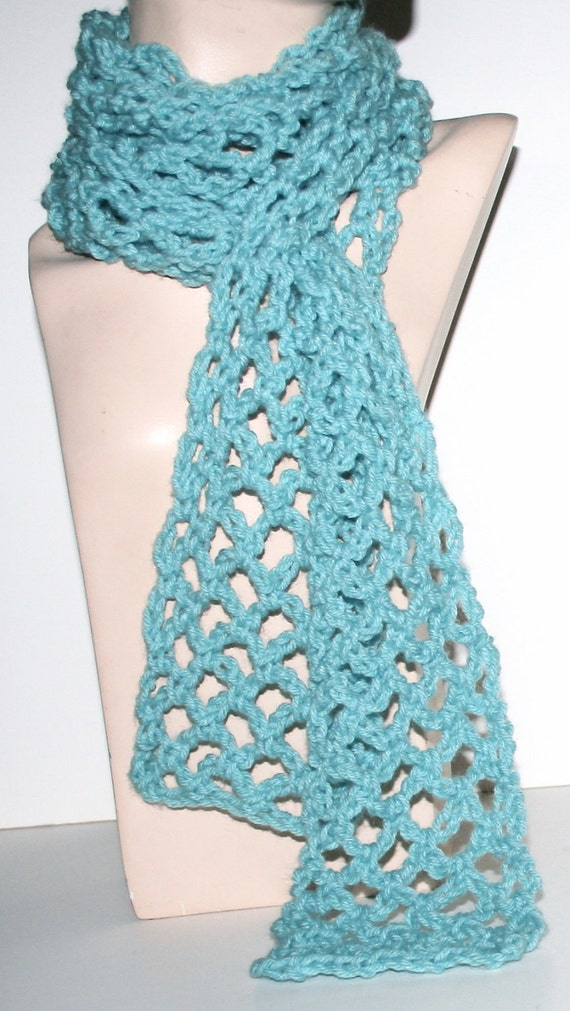 Lacy Crochet Scarf Pattern Light Airy 3 Sizes Easy Pattern Etsy