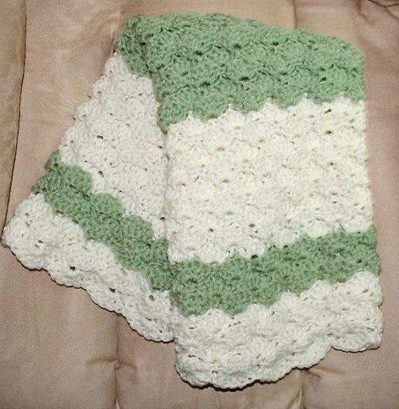 Crochet Easy Blanket Pattern Puffy Shells Fan Pattern Uk Etsy