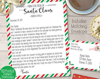 Personalized Letter From Santa Etsy