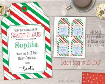 Christmas Elf Printables Kit Magic Elf Seeds Elf Donut Box Etsy