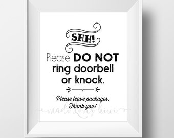 photograph relating to Baby Sleeping Sign Printable identify Child Sleeping Indicator Printable Do Not Disturb Doorway Hanger Etsy