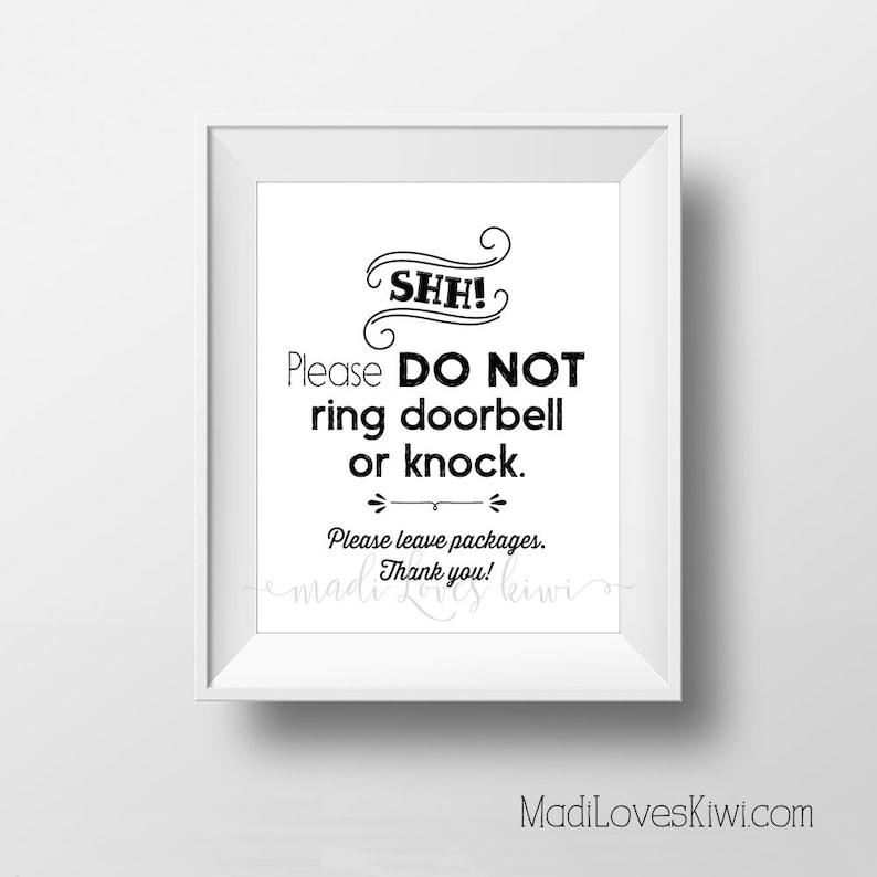 image relating to Do Not Disturb Sign Printable named Do Not Disturb Doorway Indication Printable, Shh Sleeping Youngster Electronic Hanger, Refreshing Mother Reward Strategies Shhh No Solicit Dont Ring Doorbell Shower Obtain