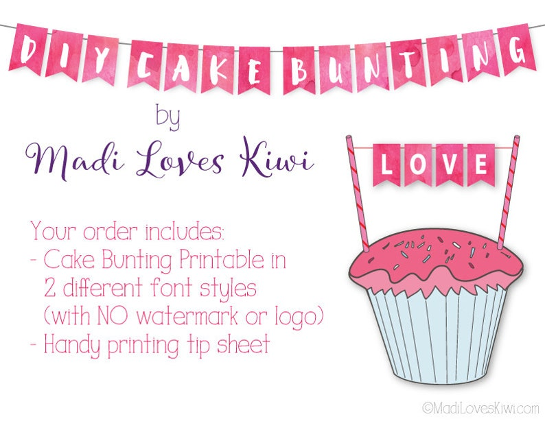 photo about Cake Banner Printable referred to as Purple Cake Bunting Banner, Printable Cake Pennant Flags, Immediate Down load Cupcake Topper, Do-it-yourself 1st Birthday Decorations Boy or girl Shower Decor Strategy