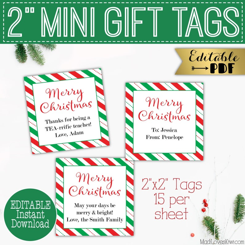 photograph about Holiday Tags Printable titled 2\