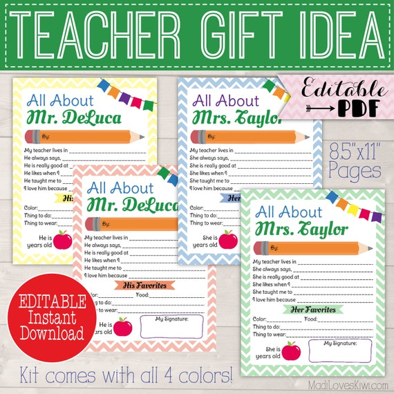 teacher appreciation memory page