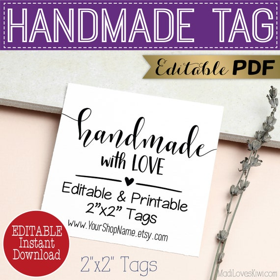 Chalkboard gift tags Handmade with love tags printable gift tags gift tags instant download