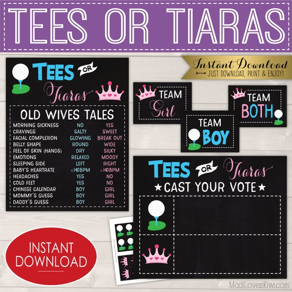picture about Printable Tiaras called Tees or Tiaras Gender Explain Decoration Package, Printable Boy