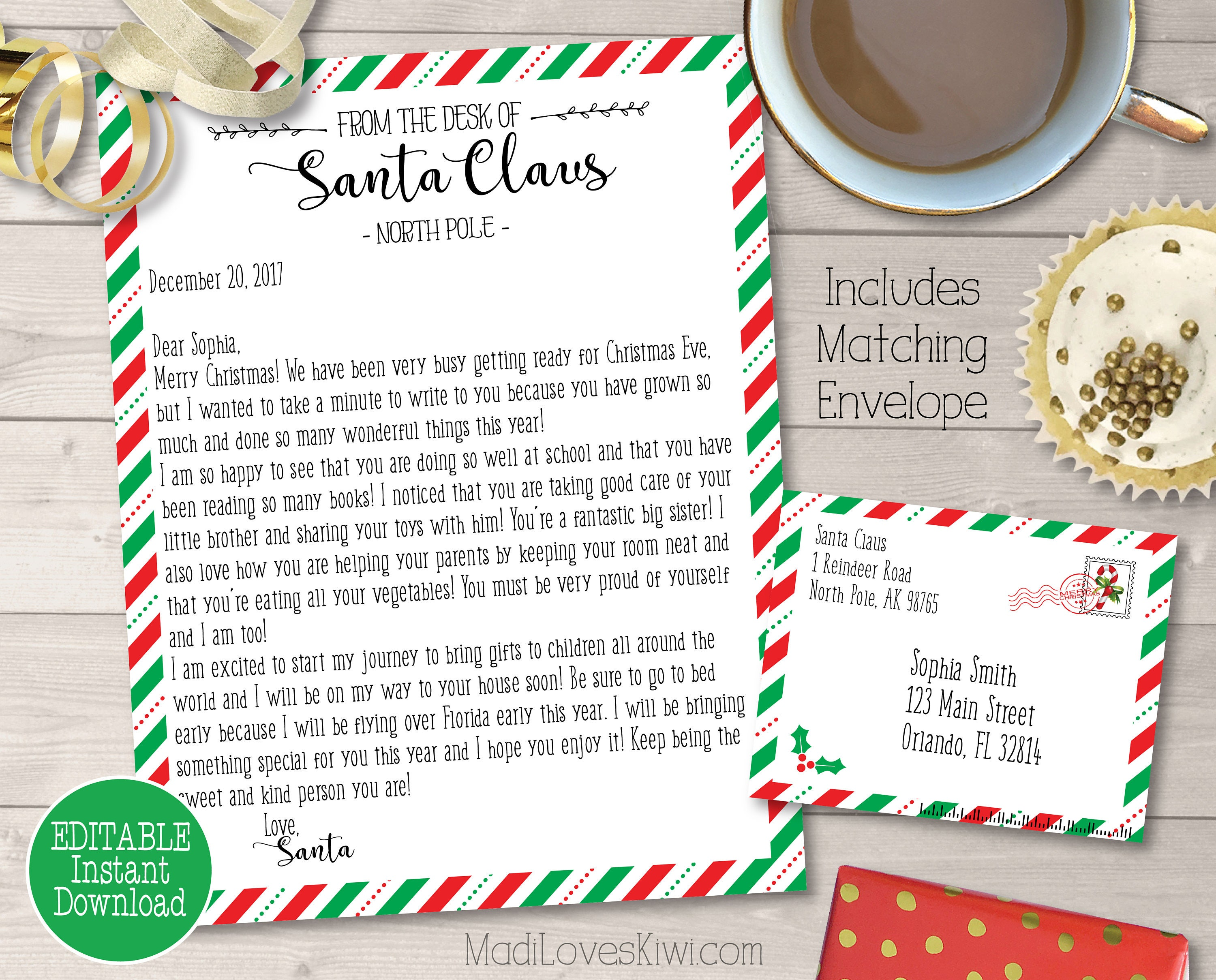Personalized Letter from Santa Customized Santa Letter | Etsy