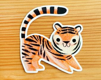 Kid Tiger Vinyl Sticker