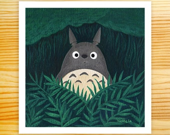 In A Forest Somewhere Totoro 5x5 Art Print